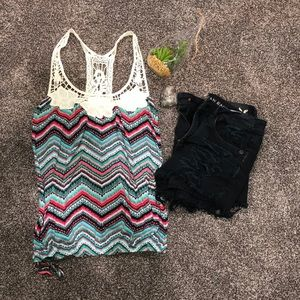 Colorful designed tank top